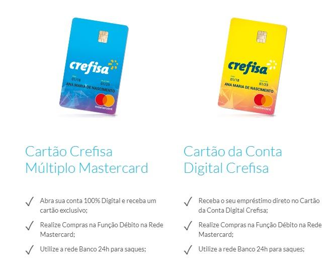 Solicitar cartão de crédito Crefisa